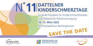 Save the date - Dattelner Kinderschmerztage 10.-12.03.2022